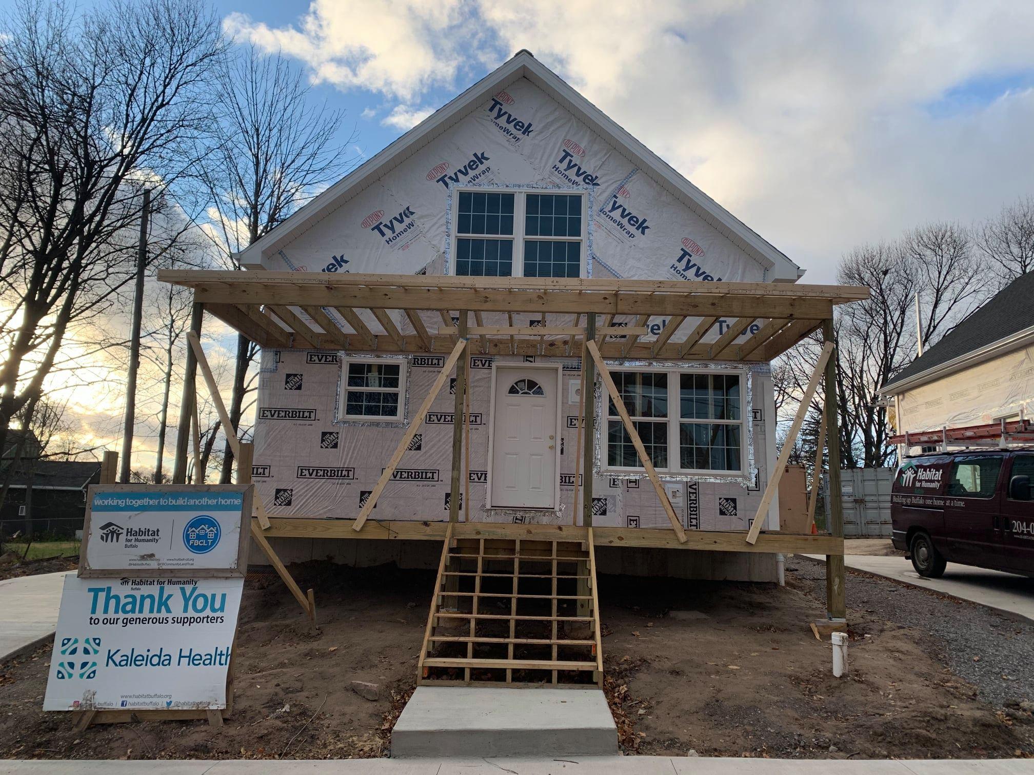 Progress of house on Rose street